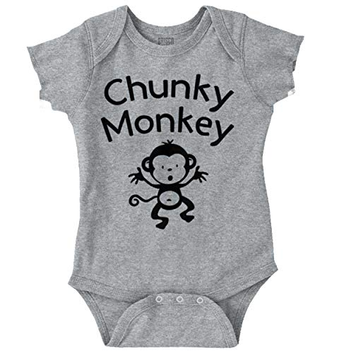 Brisco Brands Chunky Monkey Funny Cute Infant Baby Gift Romper -