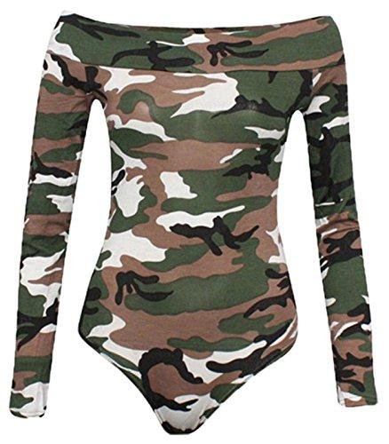 DIGITAL SPOT Damen Body, Einfarbig Schwarz * Einheitsgröße Camouflage Grün