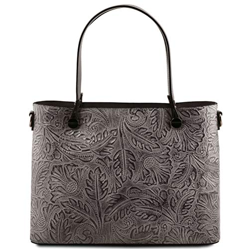Grey Atena avec Motif Sac Cuir en Tuscany Grey Floral Shopping Leather Fn5HwvBqv