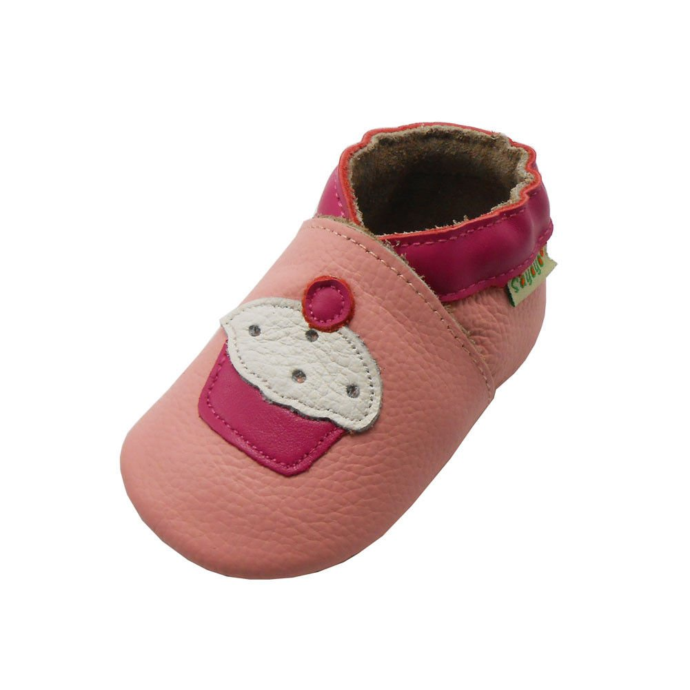 Sayoyo Baby Cute Cake Soft Soled Leather Baby Shoes Baby Moccasins Pink A1093-CA