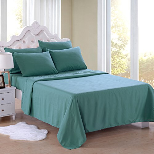 Jml Bed Sheet Set, King Size Made of Brushed Microfiber - Stretches to 18