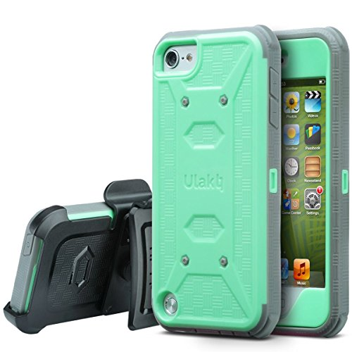 ULAK Case for iPod Touch 6 & 5, Knox Armor Dual Layer Hybrid Protective Cover with Belt Clip ()