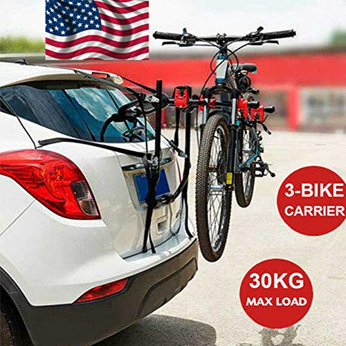 XYOUNG 3 Bike Rack Bicycle Carrier Racks Hitch Mount Bicycle Carrier Rack Foldable Rack for Rear Cars, Trucks, SUV's and minivans