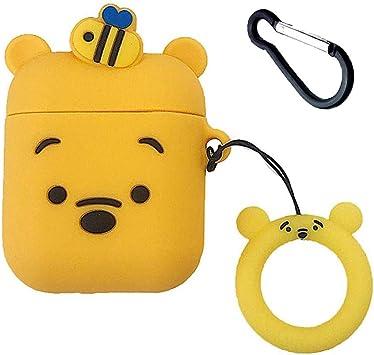 Amazon Com Honey Winnie Airpods Case Cute 3d Cartoon Winnie The