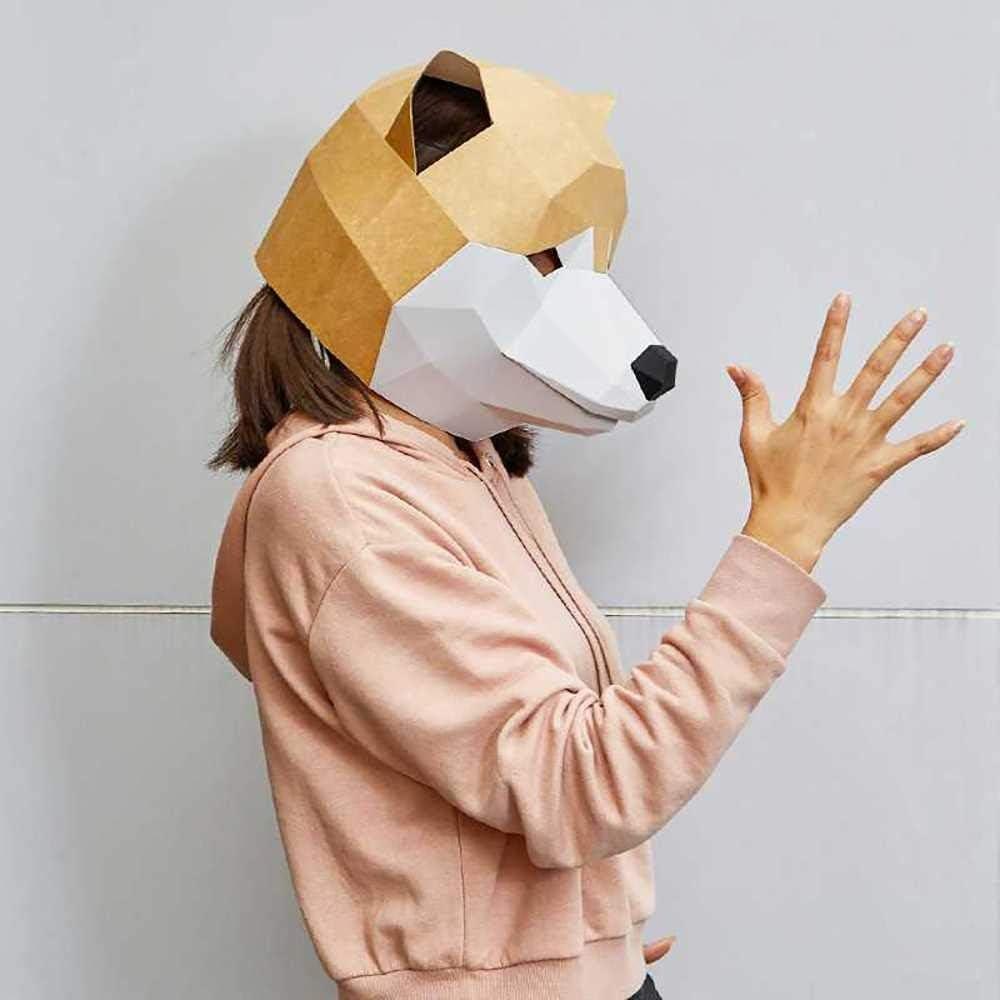 DongLe Bricolage papercraft 3D Masque Animal Chien t/ête Fun Cosplay Costume Partie du Festival for la Mode Enfant Adulte # 7 Couleur : 2, Taille : Adut