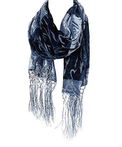 Burnout Animal - Amtal Women Safari Animal Design Velvet Silk Burnout Oblong Scarf w/Tassels