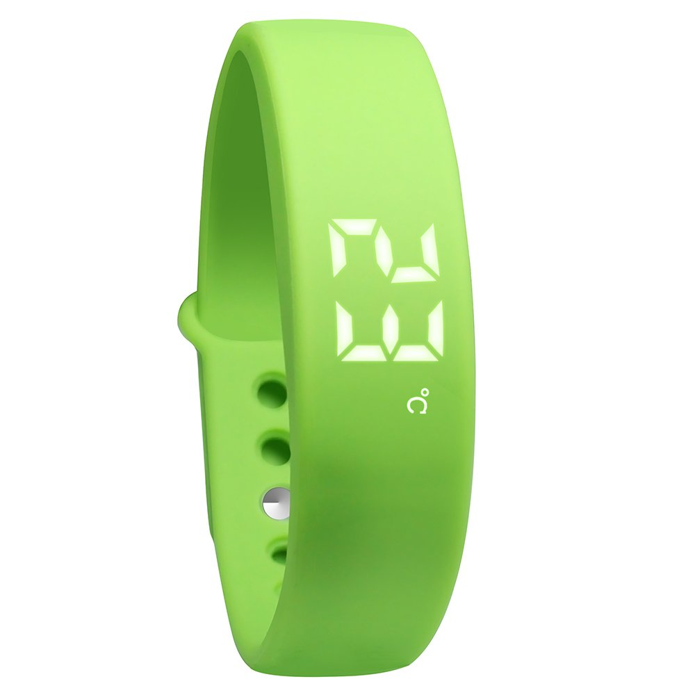 OKSPORT Smart Bracelet Watch Fitness Sports Activity Tracker Pedometers Long Standby Display Steps Distance Calories Burned Temperature Timer Health Sleep Monitor (Green)