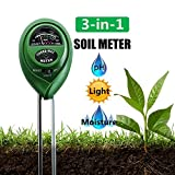 Diiker Soil pH Meter, Soil test kit, 3-in-1 Soil Tester Can test Moisture, Light and pH for Garden,Lawn,Farm, Yard, Plants,Herbs,Gardening Tools Testing Indoor and Outdoors Plant (No Battery Needed) Review