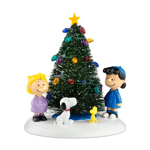 Department 56 Peanuts Village O' Christmas Tree Accessory Figurine