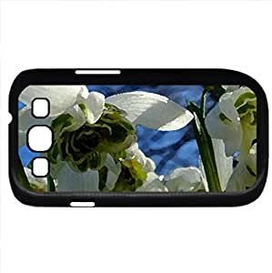 Snowdrops (Flowers Series) Watercolor style - Case Cover For Samsung Galaxy S3 i9300 (Black)