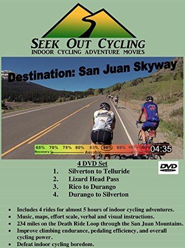 Destination: San Juan Skyway - 4 DVD Set for Indoor Cycling