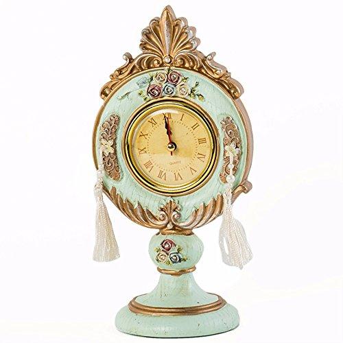 European-style retro antique do old resin embossed rosette bell clock (Rosette Resin)