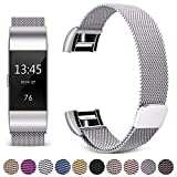 Product review for [Updated Solid Version] For Fitbit Charge 2 Magnetic Bands, Hotodeal Band Milanese Loop Stainless Steel Metal Replacement Bracelet Strap, Wristbands Accessories for Women Men
