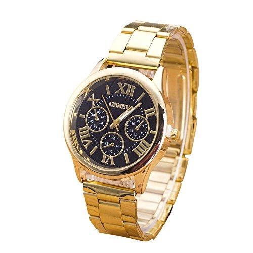 Watch 2017 New Arrival Mens Watches Quartz Stainless Steel gold watch Men Clock Mens Roman Numerals Sport Dress - Gold Oakley Watch