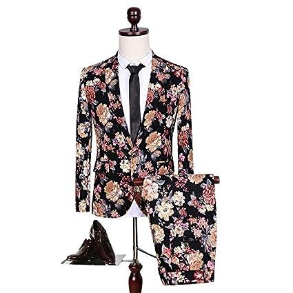 HWTP Traje de Hombre - Esmoquin Estampado de Moda - Vestido ...