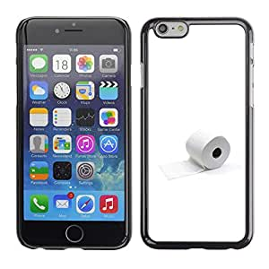 LECELL--Funda protectora / Cubierta / Piel For Apple Iphone 6 Plus 5.5 -- Papel Higiénico minimalista divertido --