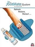 The Footmate System Foot Massager & Scrubber w/ Rejuvenating Gel (Blue White Blue Base)
