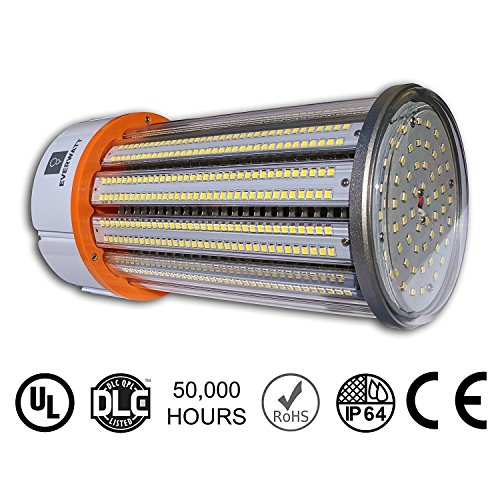 100W LED Corn Light Bulb, Large Mogul E39 Base, 14422 Lumens, 4000K, Replacement for 600W to 700W Equivalent Metal Halide Bulb, HID, CFL, HPS by EverWatt