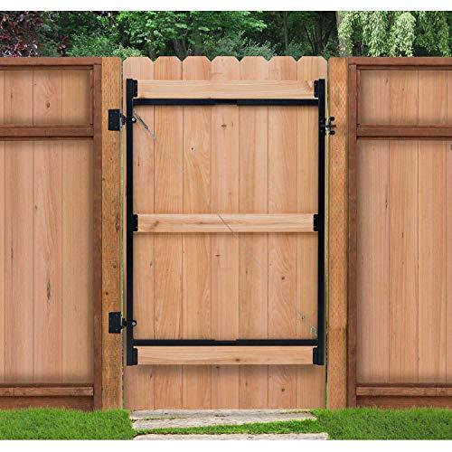 Adjust-A-Gate Contractor Series Adjustable Steel Gate Frame 3 Rail Kit 60-96