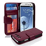 Cadorabo - Book Style Wallet Design for Samsung Galaxy S3 / S3 NEO (I9300) with 2 Card Slots and Money Pouch - Etui Case Cover Protection in PASTEL-PURPLE