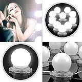 Kivis Hollywood Style Makeup Mirror lights Dimmable LED Vanity Lights Kit - 10 Blubs