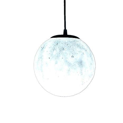 3d lunar Loft Lámpara Colgante Techo PVC redondas Luna ...