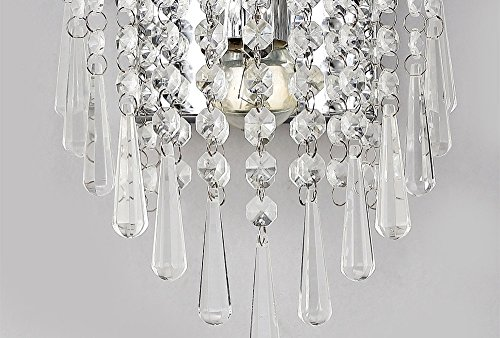 ALUS- European Luxury Crystal Bedroom Living Room Wall lamp Metal Light Body Crystal lampshade Wall lamp by Nice wall light (Image #5)