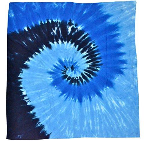 Fleece Tie Throw - Colortone Tie Dye Blanket Blue Ocean