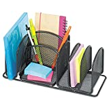 Safco Products 3251BL Onyx Mesh Deluxe Desktop Organizer, Black