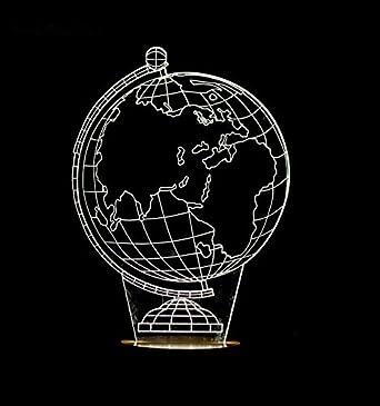 GARY&GHOST 3D LED Lampe, Erde-Form Lichteffekt, USB Leuchten, für ...