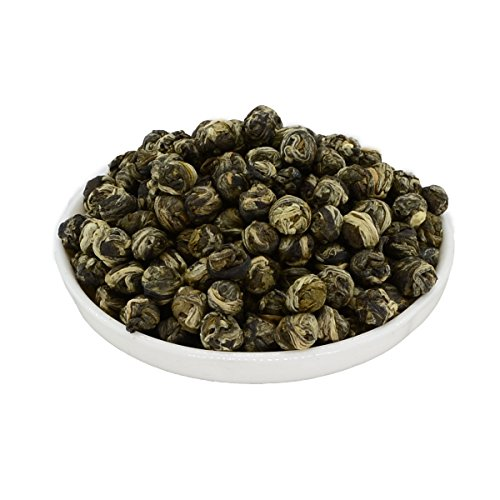 Mozentea Imperial Jasmine Dragon Pearls Green Tea Loose Leaf -Chinese Tea ((100G(3.5OZ))) - Chinese Jasmine Green Tea