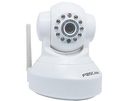 Foscam - FI8918W cámara IP para vigilancia interna motorizada con visión nocturna - WiFi - Blanco