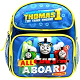The Tank Engine ALL ABOARD Thomas the Train Engine 10 Mini Toddler Canvas Blue School Backpack No1 Thomas