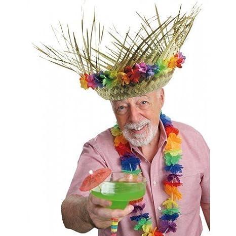 a909cc53e044c Mujer Hombre Adulto Guirnalda hawaiana Lei Paja Fiesta Verano Sombrero De  Disfraz Accesorio  Amazon.es  Juguetes y juegos