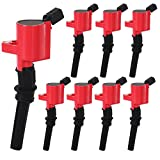 High Performance Ignition Coil Set of 8 for Ford Lincoln Mercury 4.6L 5.4L V8 Compatible with DG508 C1454 C1417 FD503 ¡
