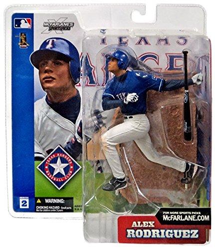 McFarlane Toys MLB Sports Picks Series 2 Action Figure Alex Rodriguez (Texas Rangers) Blue Jersey - Alex Figure Rodriguez