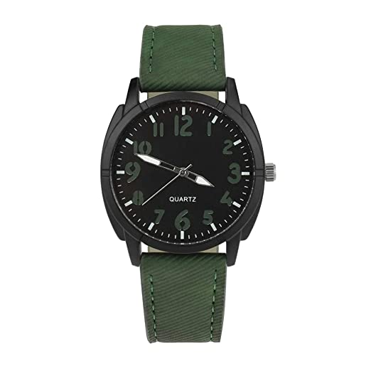 Nuevo Reloj para Hombres Reloj de Pulsera de Cuarzo de aleación analógica con diseño Retro Reloj Vintage de Cuero para Hombre.: Amazon.es: Relojes