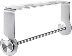 Nieifi Paper Towel Holder under Cabinet Stainless Steel Rustproof for Kitchen Adhesive No Drilling Silver