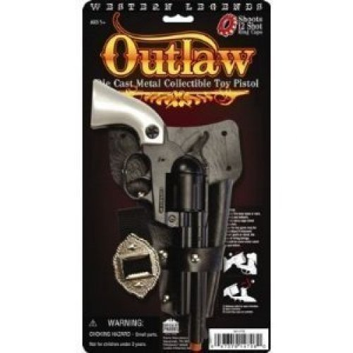 Parris Western Legends Outlaw Die Case Metal Collectible Toy Pistol Toy Cap Guns Kids Costumes