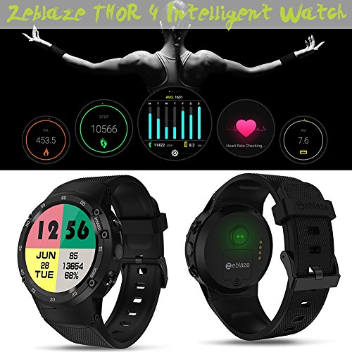 Lifesongs Zeblaze Thor 4 Flagship 4G LTE GPS Smart Watch con ...