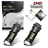 Partsquare Pack2 3157 3156 3357 80W White 6000K Fog Light Driving Lamp made by High Power Epistar LED w/ in-bulit IC Control and Black Auminum Alloy