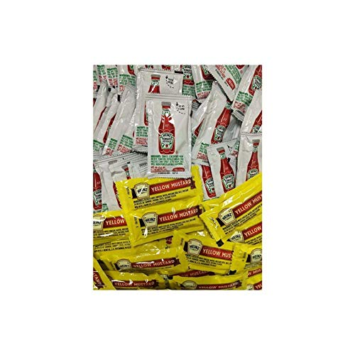 Heinz Condiment Packets Ketchup and Mustard, 200 Total (100 Each ()