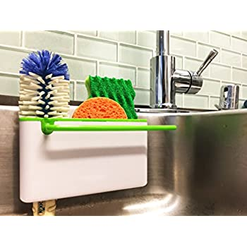 Amazon Com Kitchen Sink Caddy Sponge Holder Scratcher