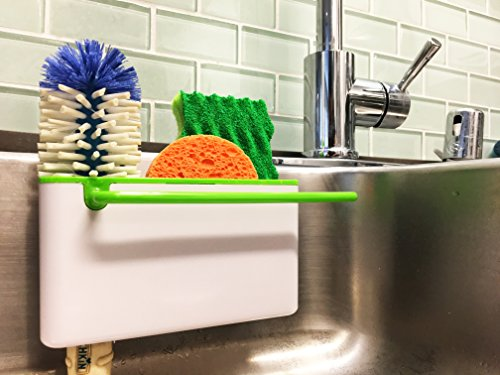 Star Element Sink Caddy Kitchen Soap ,Sponge Holder and Brush Holder. Multifunction Sink Organizer for Countertop