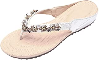 GARDENYEAR Lady Boho Beach Flip Flops Thon Sandal Flat Summer Toe Post Slipper Personalizzato