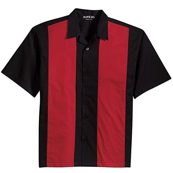 1950s Men's Clothing Clothe Co. Mens Retro Bowling Camp Shirt $35.95 AT vintagedancer.com