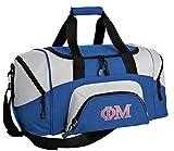 Small Phi Mu Travel Bag Phi Mu Sorority Gym Workout Bag