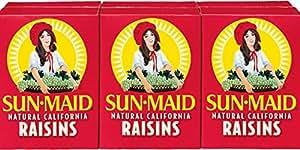 Sun Maid California Raisins 36 Boxes (12 x 3 packs) 1.33oz Boxes