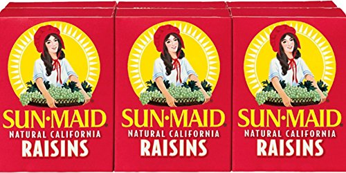Sun Maid California Raisins 36 Boxes (12 x 3) 1.0oz Boxes