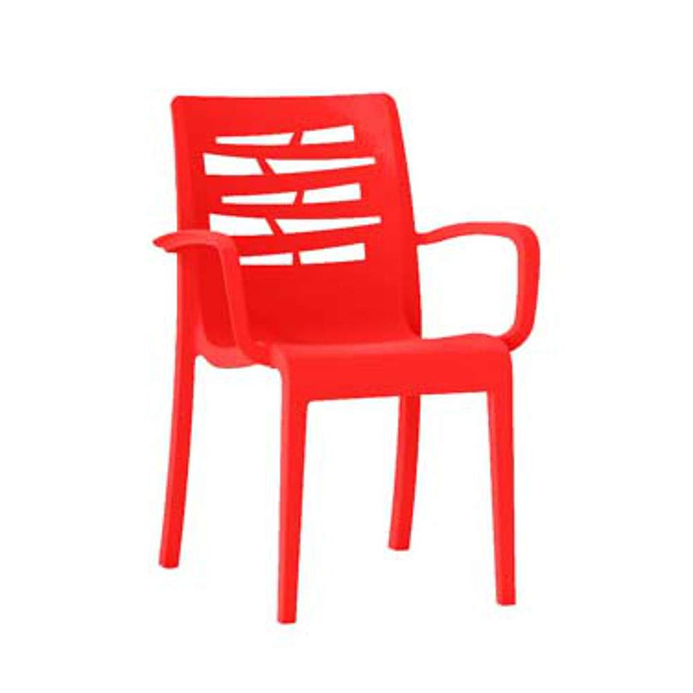 Grosfillex US118414 Essenza Stacking Armchair, Red (Case of 16)